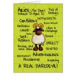 zodiac word cards - aries