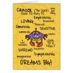 zodiac word cards - cancer