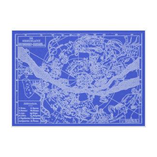 Zodiacus Vintage Zodiac Celestial Corpus Chart Canvas Print