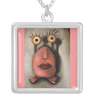 Zoe 1 little alien silver plated necklace