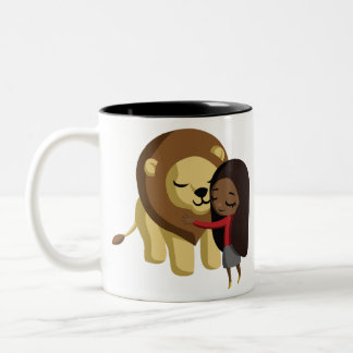 Zoe and Peanut Two-Tone Coffee Mug