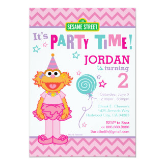 "Zoe Birthday 5"" X 7"" Invitation Card"