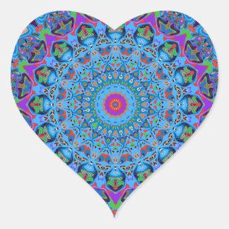 Zoe Mandala Design Heart Sticker