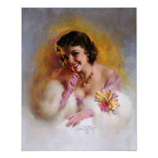 Zoe Mozert Pin Up Model Vintage Art (Poster) Poster