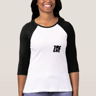Zoe name monogram initial personalized black white T-Shirt