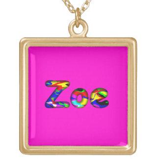 Zoe pink necklace