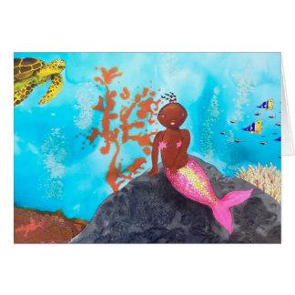 Zoë, the little mermaid card