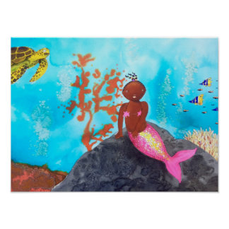 Zoë, the little mermaid poster