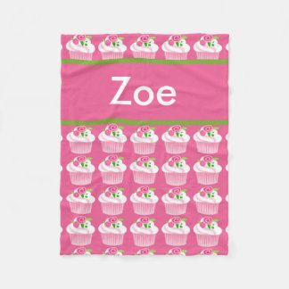 Zoe's Personalized Cupcake Blanket