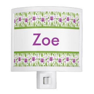 Zoe's Personalized Iris  Night Light