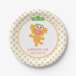 Zoey Baby Birthday 7 Inch Paper Plate