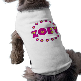 Zoey in Flores Pink Shirt