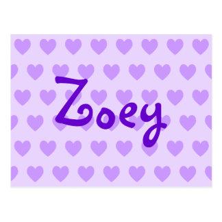 Zoey in Purple Postcard