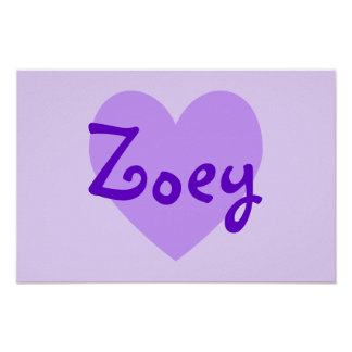 Zoey in Purple Poster