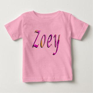 Zoey, Name, Logo, Baby Girl Pink T-shirt