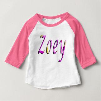 Zoey, Name, Logo, Baby Girls Pink Raglan T-shirt