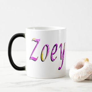 Zoey, Name, Logo, Magic Mug