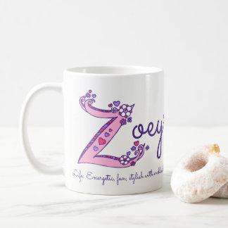 Zoey name meaning decorative Z monogram mug
