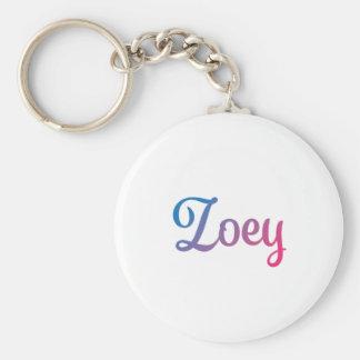 Zoey Stylish Cursive Keychain