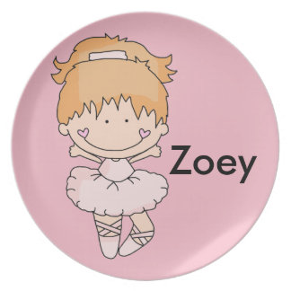 Zoey's Personalized Ballet Plate