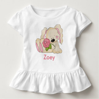 Zoey's Personalized Bunny Toddler T-shirt