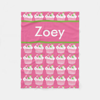 Zoey's Personalized Cupcake Blanket