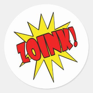 Zoink!  Cartoon SFX Classic Round Sticker