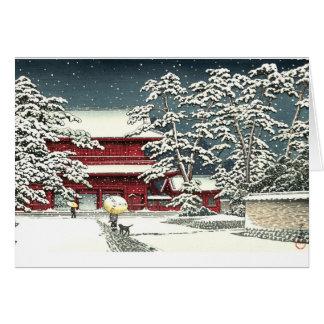 """""""Zojoji in Snow"""" by Kawase Hasui 川瀬 巴水 Card"""