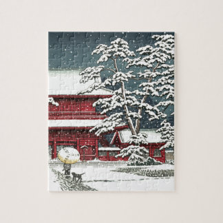 """Zojoji in Snow"" by Kawase Hasui 川瀬 巴水 Jigsaw Puzzle"