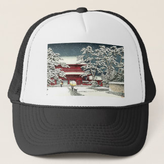 """""""Zojoji in Snow"""" by Kawase Hasui 川瀬 巴水 Trucker Hat"""
