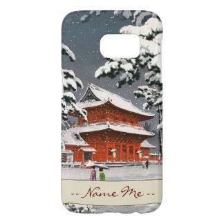Zojoji Temple in Snow Tsuchiya Koitsu winter scene Samsung Galaxy S7 Case