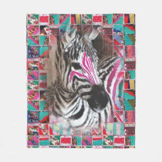 Zola sporting pink stripes v1 Fleece Blanket