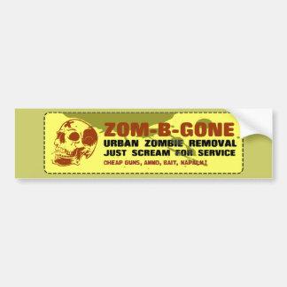 Zom-B-Gone Urban Zombie Removal Bumper Sticker