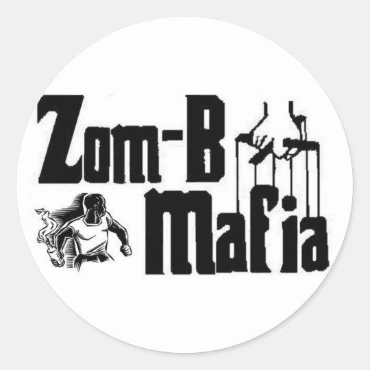 zom-b mafia classic round sticker