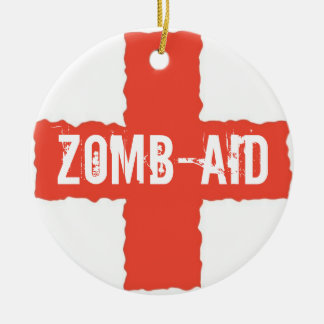 Zomb-AID Ceramic Ornament