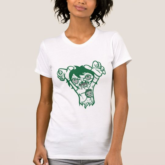 zomb green outline T-Shirt