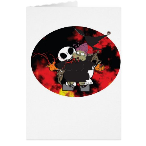 Zombee bites that old, fat hag card