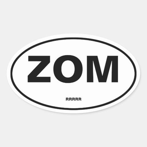 Zombi Sticker Ovale