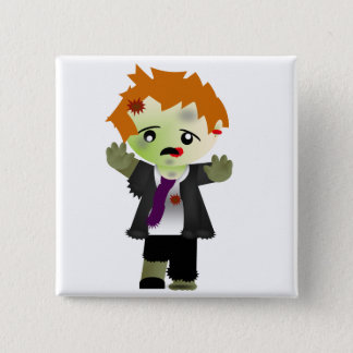 Zombie 2 Inch Square Button