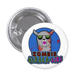 Zombie Alpaca-lips Button