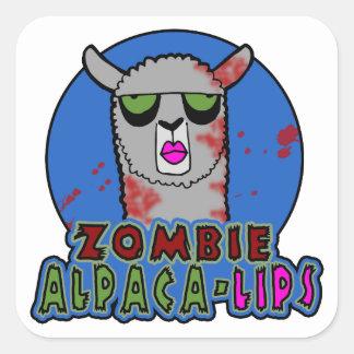 Zombie Alpaca-lips Sticker