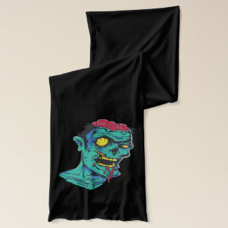 Zombie and Eyeball  Halloween Scarf