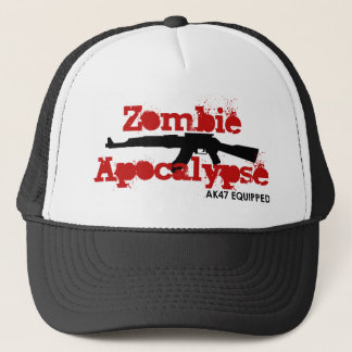 Zombie Apocalypse AK47 Equipped Trucker Hat