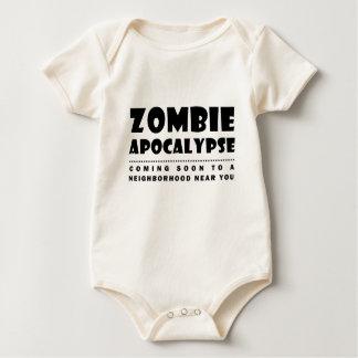 Zombie apocalypse baby bodysuit