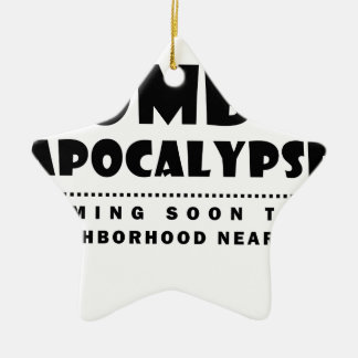 Zombie apocalypse ceramic ornament