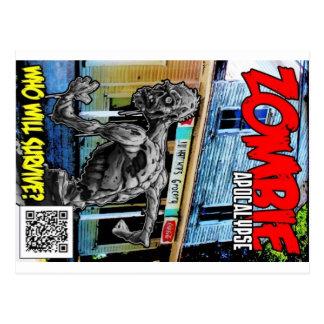 Zombie Apocalypse Cover Postcard