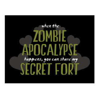 Zombie Apocalypse Fort Postcard