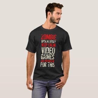 Zombie apocalypse - Keep calm I'm a gamer Shirt