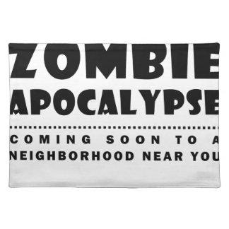 Zombie apocalypse placemat
