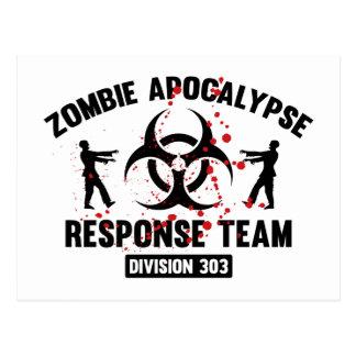 Zombie Apocalypse Response Team Postcard